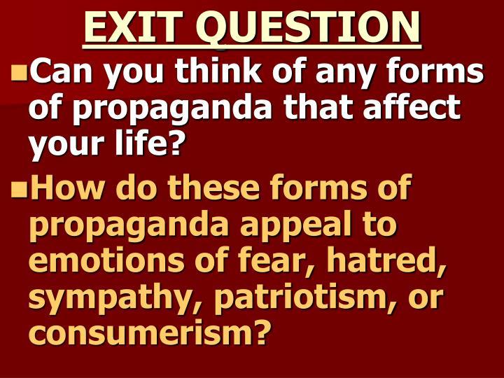 EXIT QUESTION