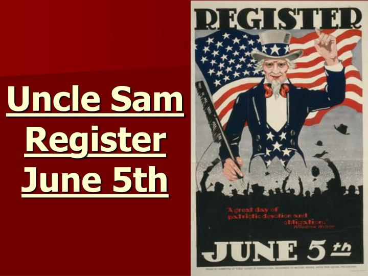 Uncle Sam Register June 5th