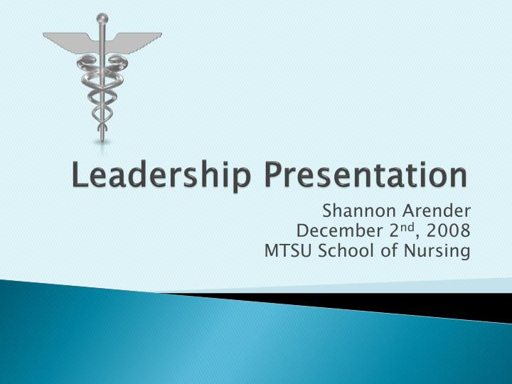 Leadership presentation