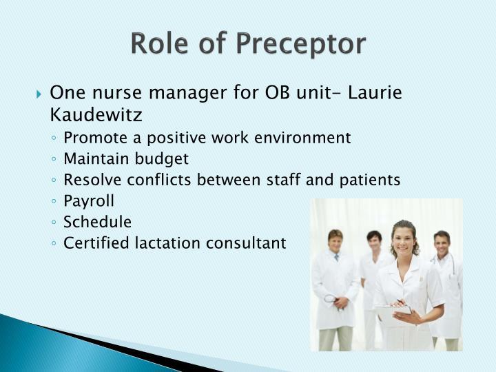 Role of Preceptor