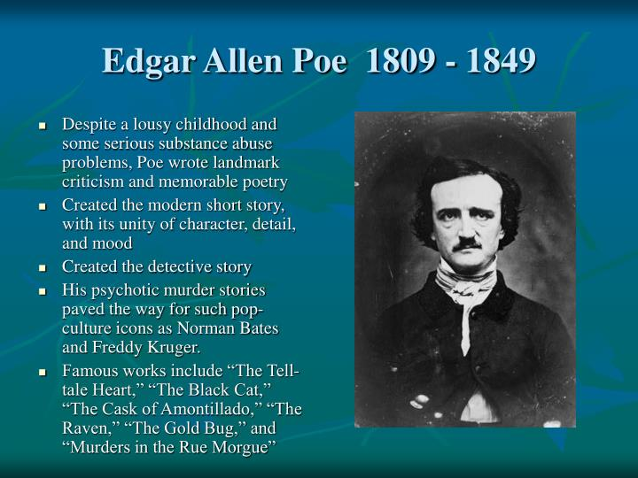 edgar allan poes writing essay My essay on him please rate and comment in literature author's use details to make tehre work more vivid and lively.