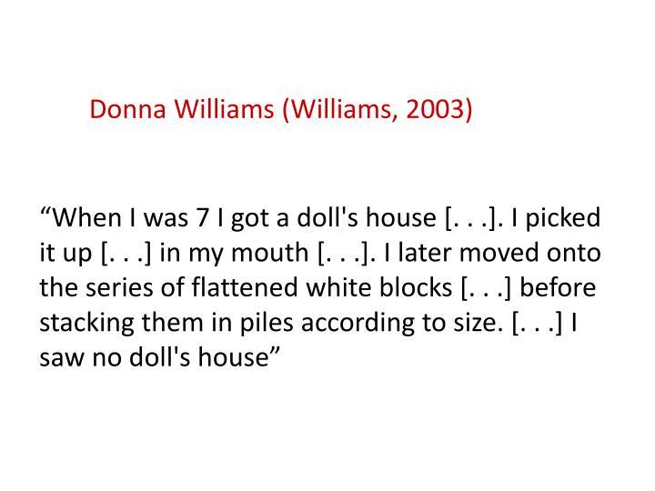 Donna Williams (Williams, 2003)