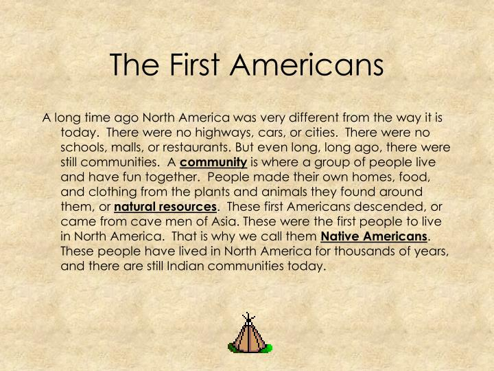 The first americans1