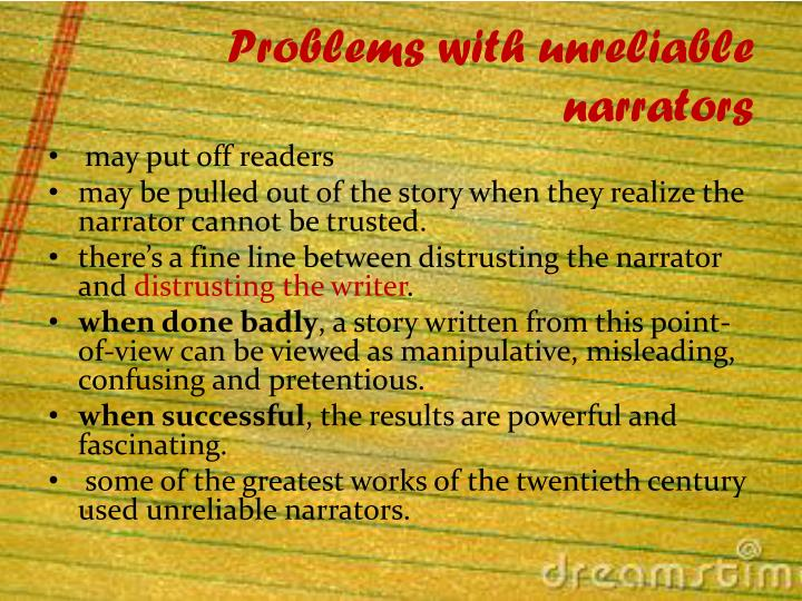 Problems with unreliable narrators