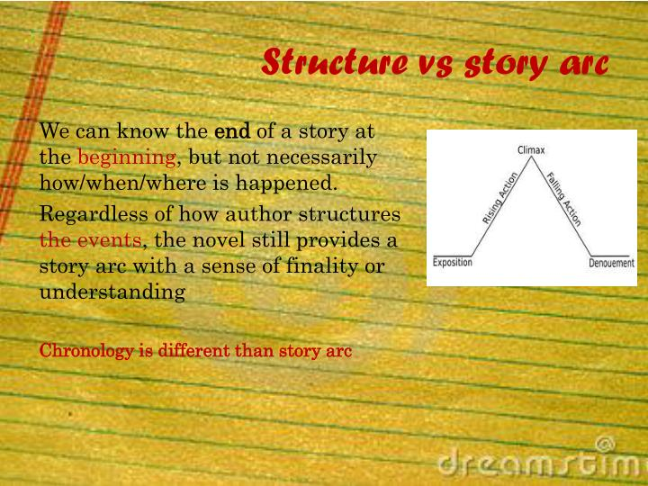Structure vs story arc