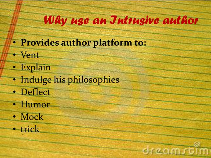 Why use an Intrusive author