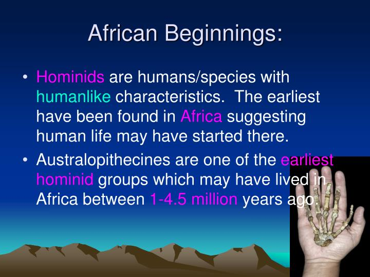 African Beginnings: