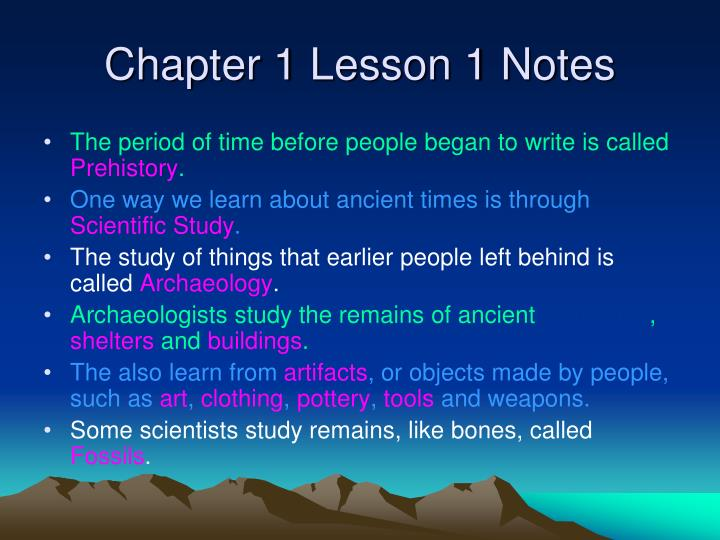 Chapter 1 Lesson 1 Notes