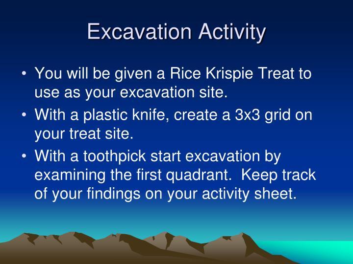 Excavation Activity