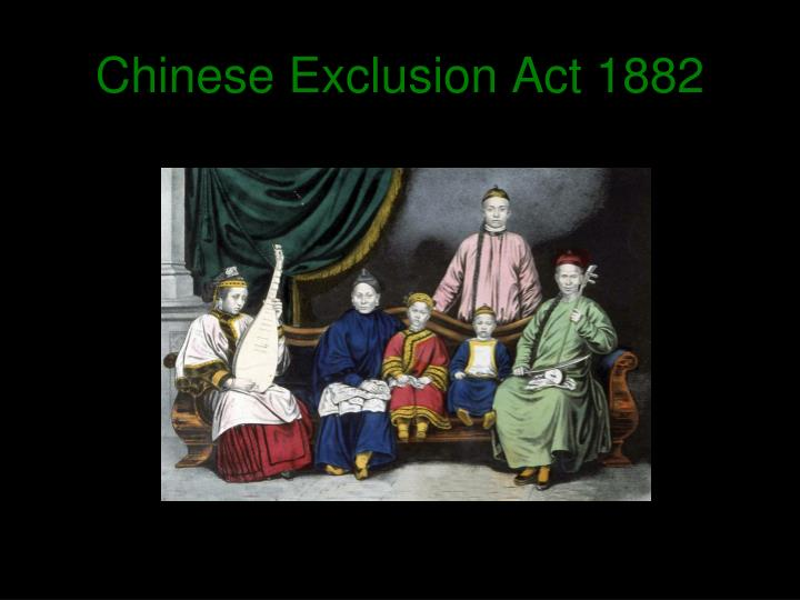 an examination of the chinese exclusion act Although congress passed the chinese exclusion act in 1882 decades before the incarceration of japanese americans during world war ii, the act was a turning point in us relations with asian immigrants and their descendants.