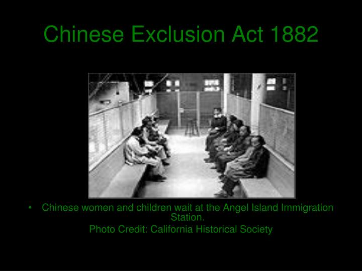 a history of the chinese exclusion act Congress passed the chinese exclusion act in 1882, barring chinese immigrants who were already in the us a history professor at indiana.