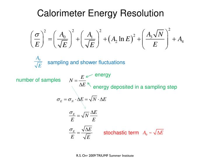 Calorimeter Energy Resolution