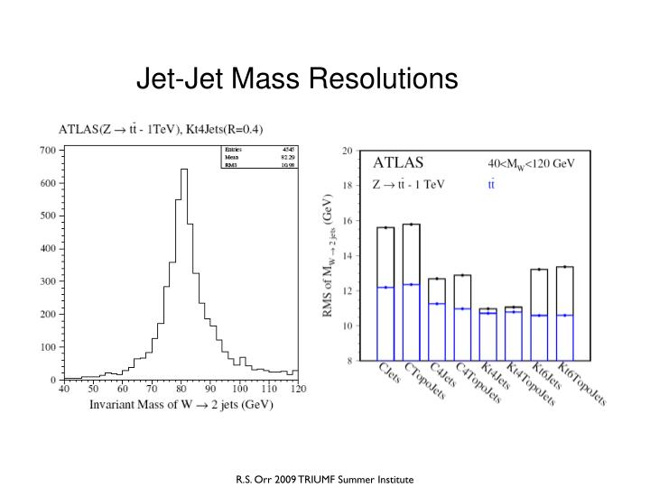 Jet-Jet Mass Resolutions