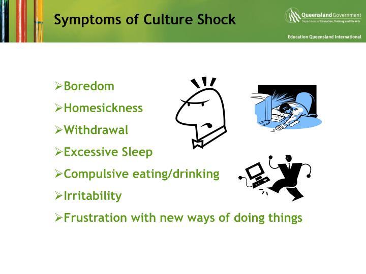 Symptoms of Culture Shock