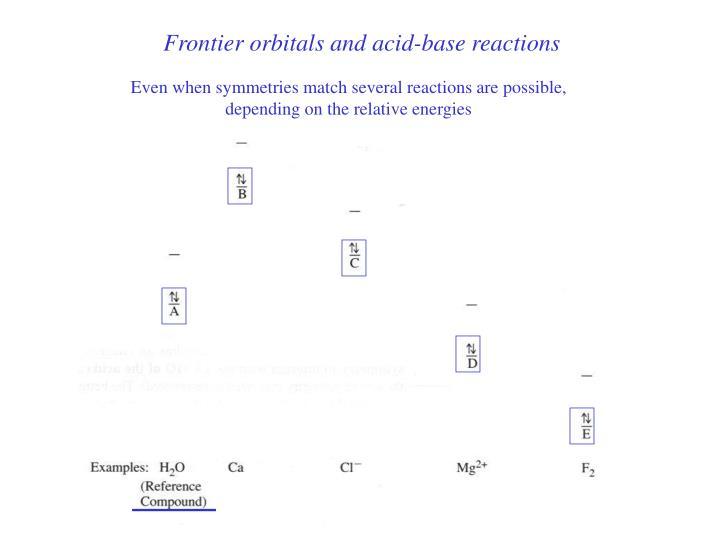 Frontier orbitals and acid-base reactions