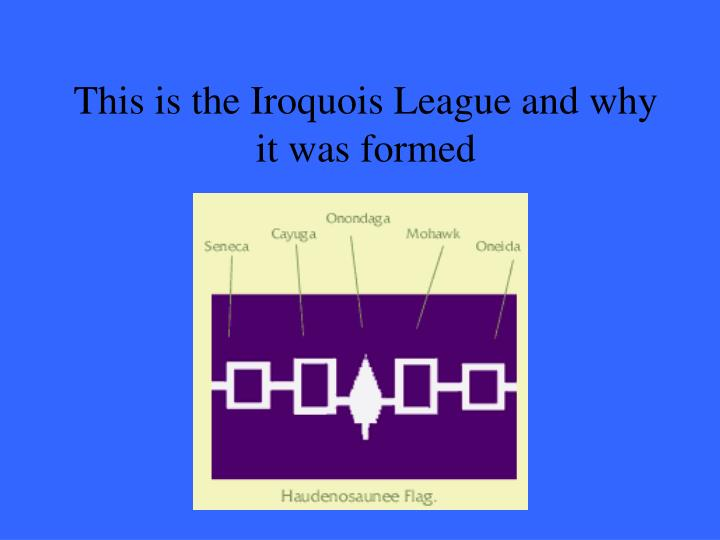 This is the Iroquois League and why it was formed