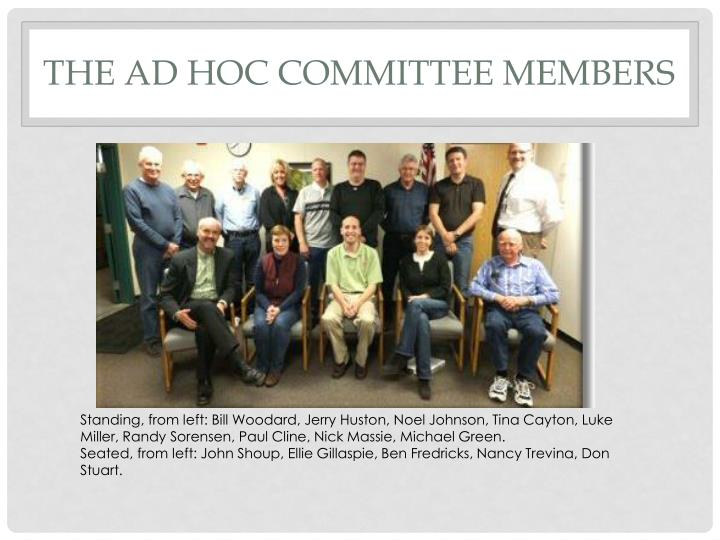 The ad hoc committee members