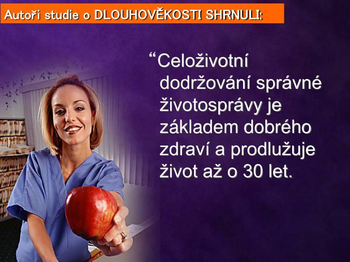 Autoři studie o DLOUHOVĚKOSTI SHRNULI:
