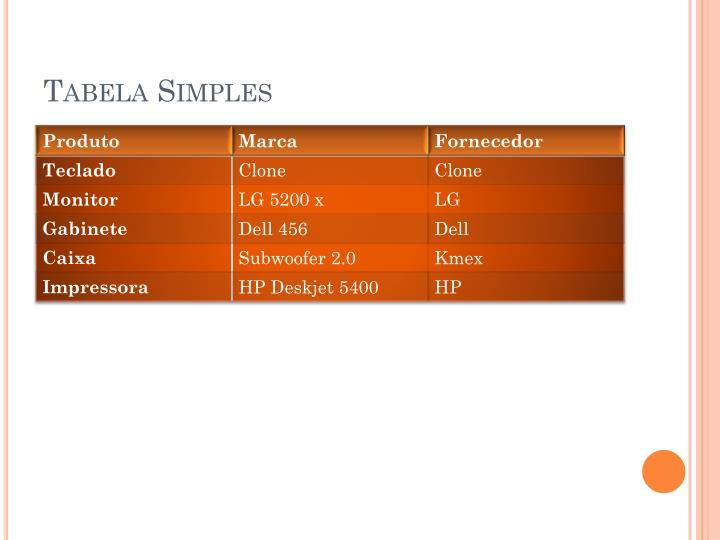 Tabela Simples