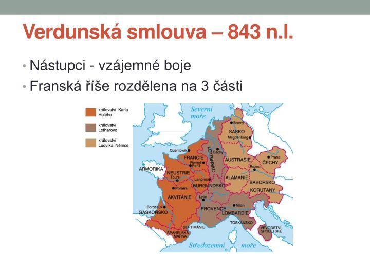 Verdunská smlouva – 843 n.l.