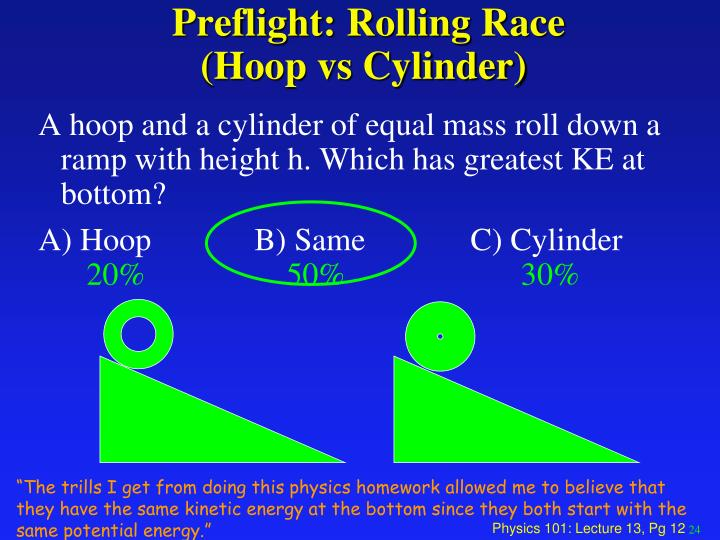 Preflight: Rolling Race