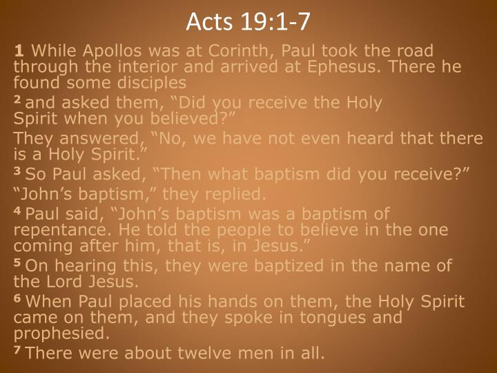 Acts 19:1-7