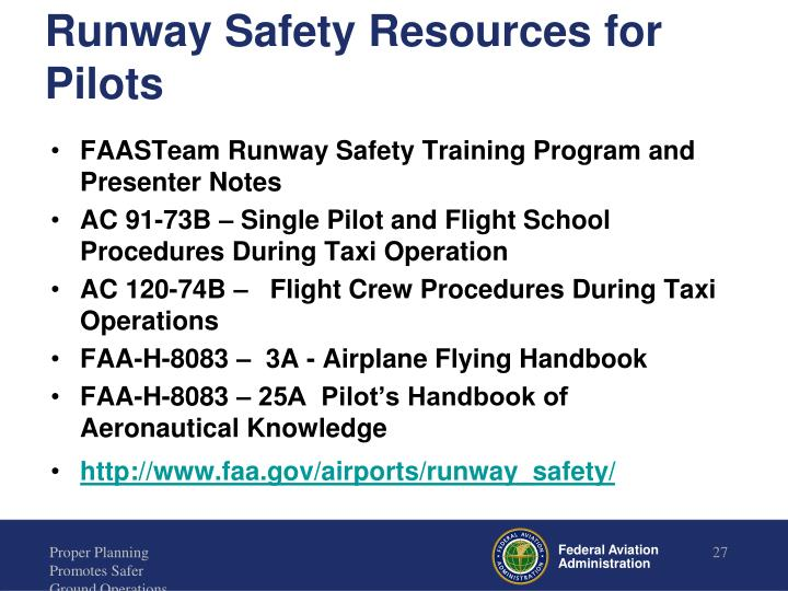 Runway Safety Resources for Pilots