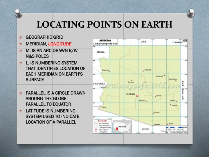 LOCATING POINTS ON EARTH