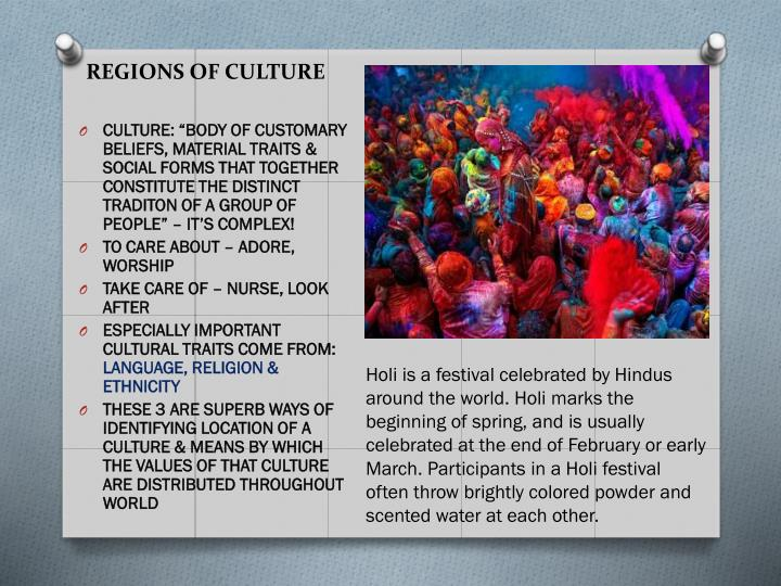 REGIONS OF CULTURE