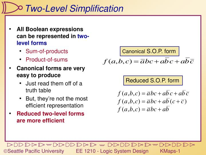 Two level simplification