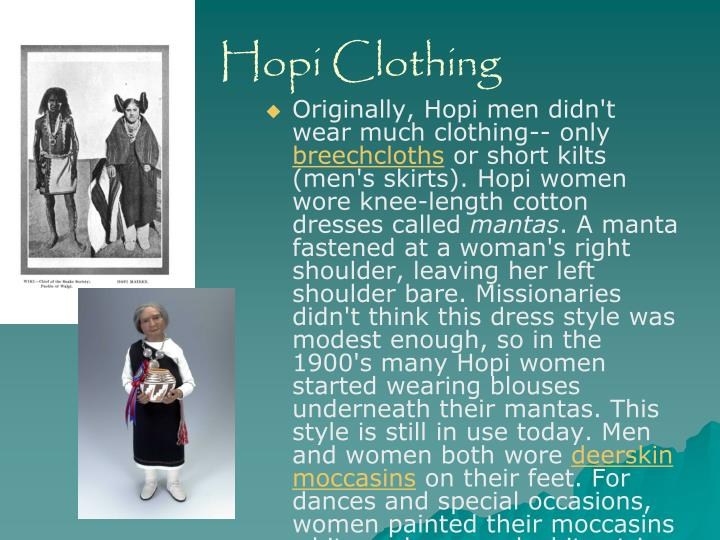 Hopi Clothing