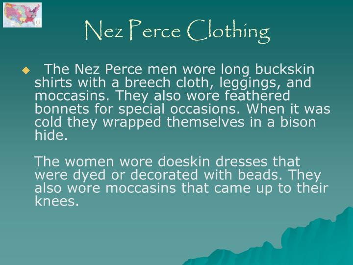 Nez Perce Clothing