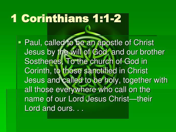 1 Corinthians 1:1-2