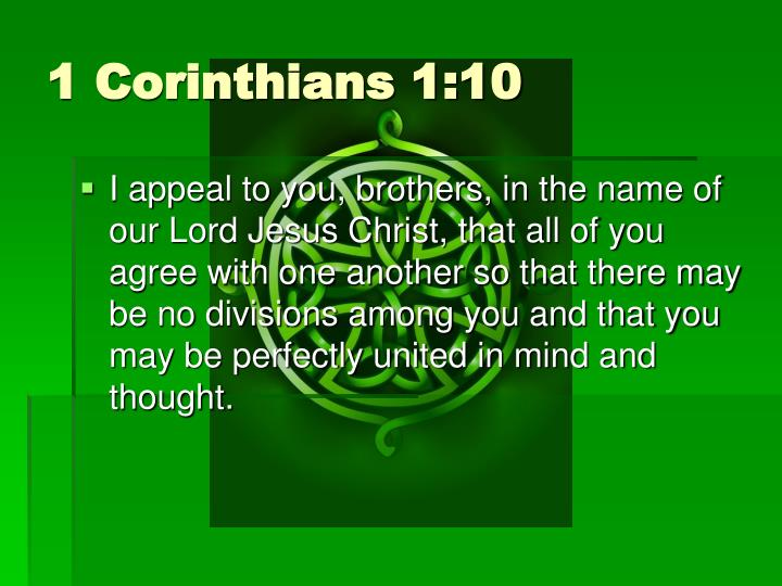 1 Corinthians 1:10