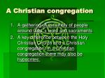 a christian congregation1