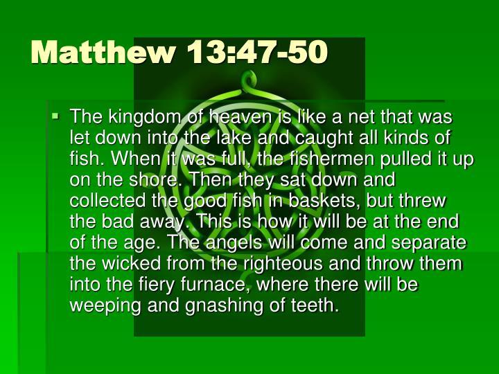 Matthew 13:47-50