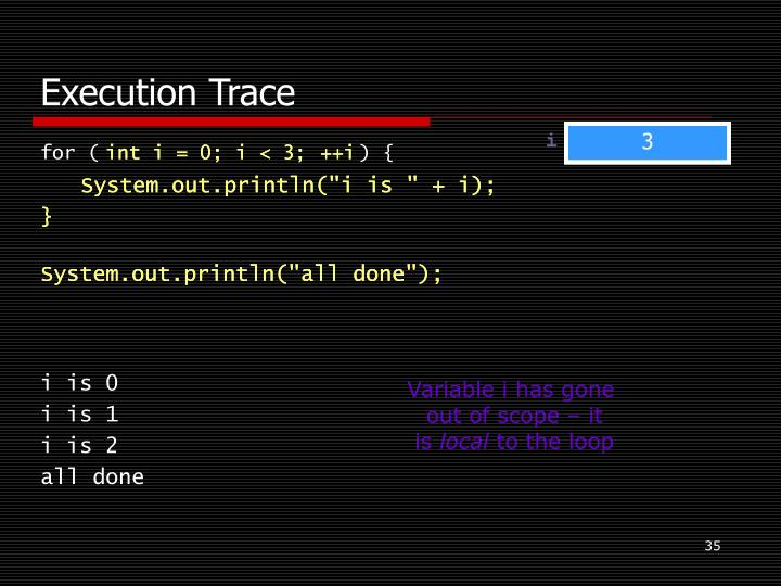 Execution Trace