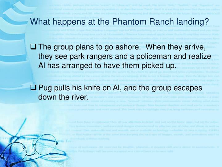 What happens at the Phantom Ranch landing?