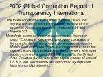 2002 global corruption report of transparency international