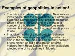 examples of geopolitics in action
