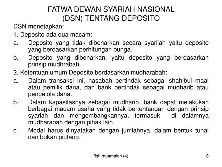 FATWA DEWAN SYARIAH NASIONAL
