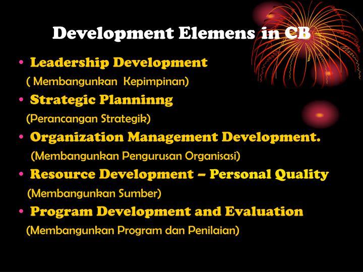 Development Elemens