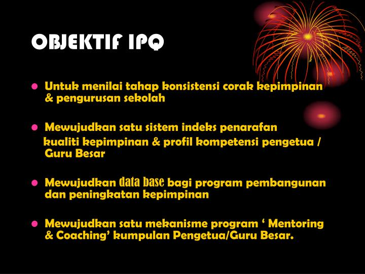 OBJEKTIF IPQ