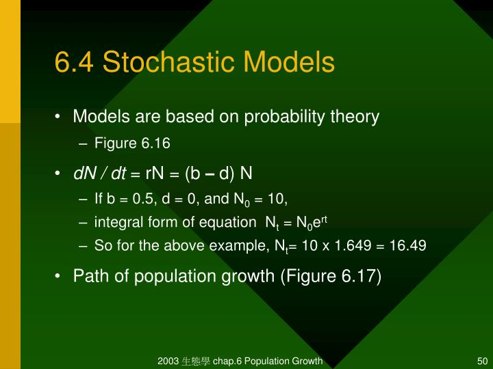 6.4 Stochastic Models