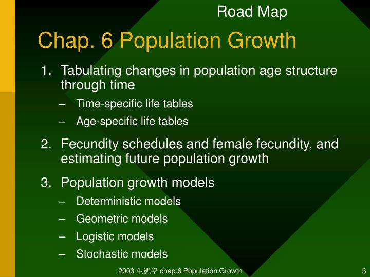 Chap 6 population growth