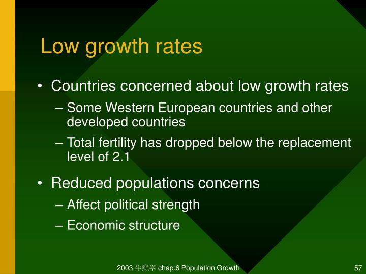 Low growth rates