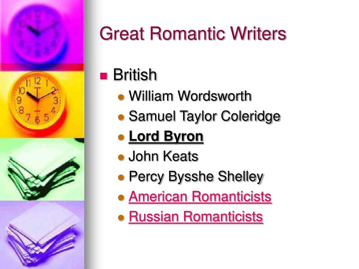 Great Romantic Writers