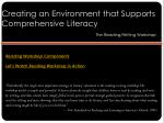 creating an environment that supports comprehensive literacy