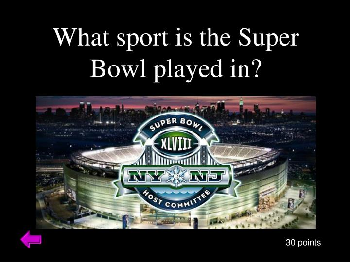 What sport is the Super Bowl played in?
