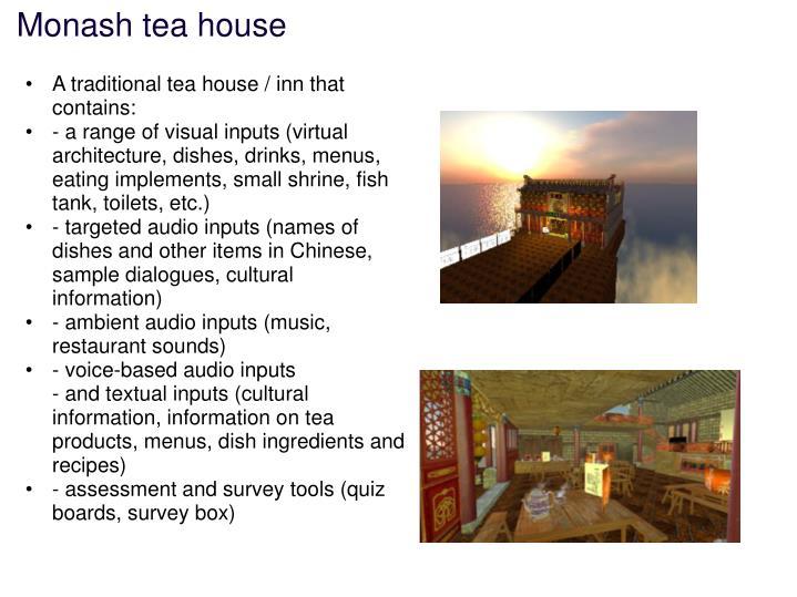 Monash tea house